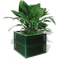 24 Inch Square X 18 Inch High Perforated Planter
