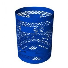 32 Gallon Trash Receptacle Only with Laser Cut Paw Prints And Bones