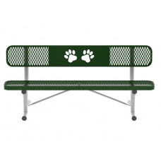8 Foot Portable Bench With Logo B8WBULPPaws