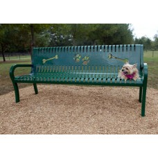 6 Foot Doggie Bench With Arms DL-95456