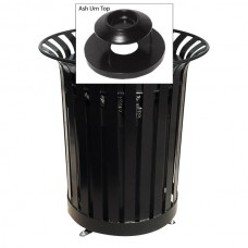 36 Gallon Lexington Receptacle with Ash Urn Lid and Plastic Liner
