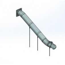 30 inch x 10 foot Straight Slide ground support and hardware