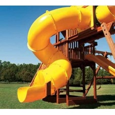30 inch Spiral Tube Slide - Deck Height 7 foot